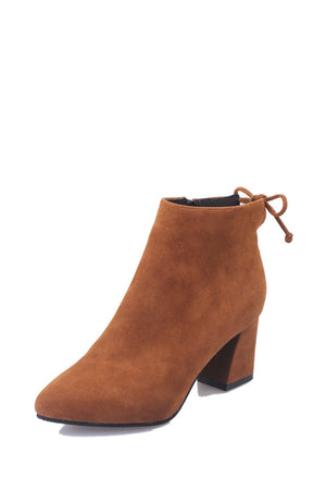 Nubuck leather ladies boot