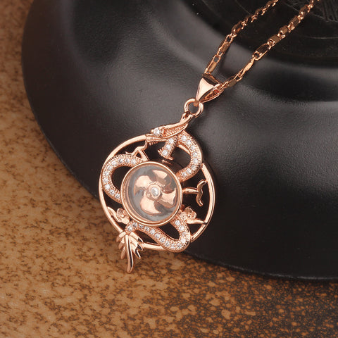 Dragon totem windmill necklace