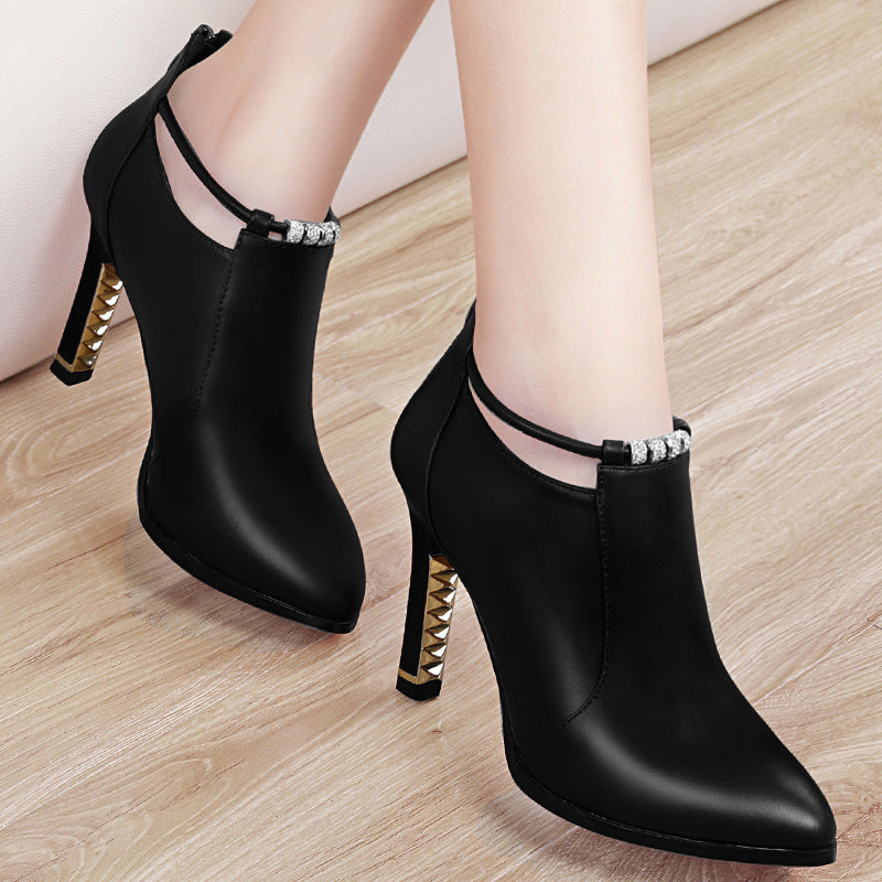 Korean female waterproof  high-heeled shoe