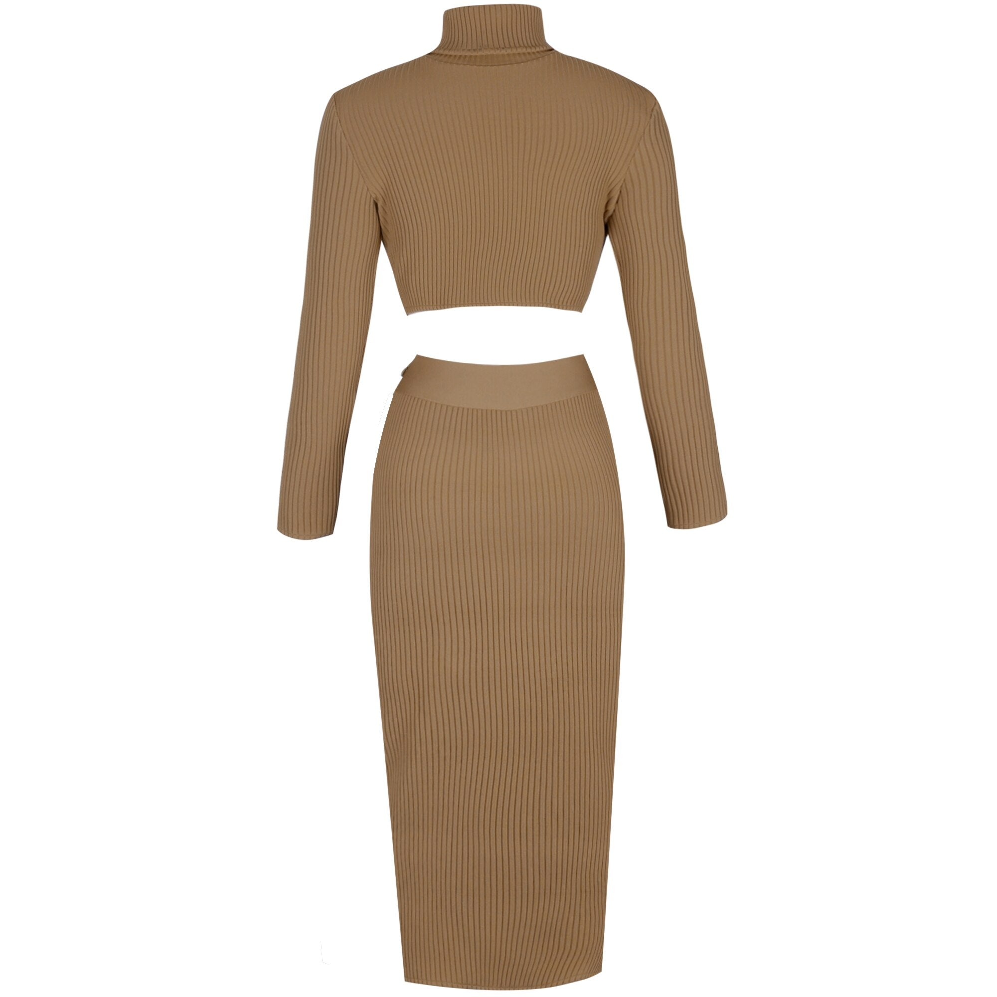 Ribbed Bandage Two Piece Set