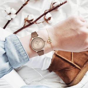 Reloj Mujer Luxury Leather Watch