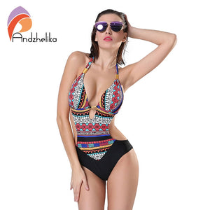 One Piece Swimsuit Brazilian Halter