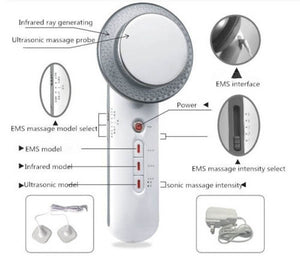 Facial Cleanser Infrared Slimming Massager