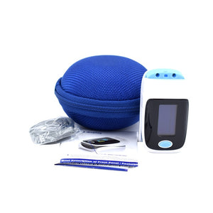 Blue Fingertip Pulse Oximeter
