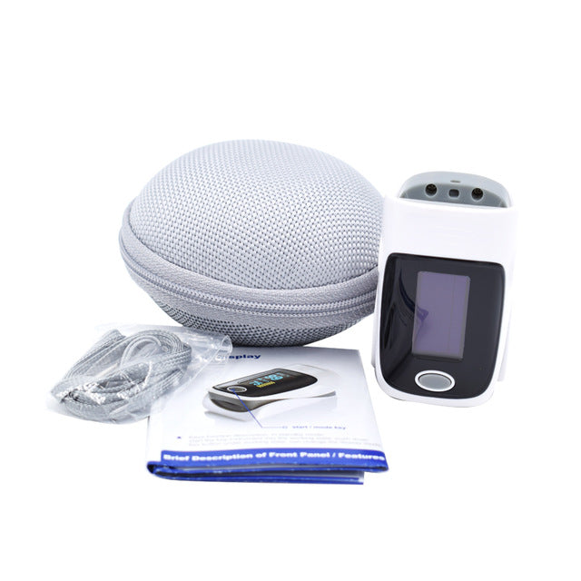 White Fingertip Pulse Oximeter