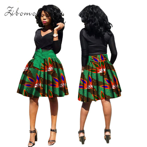 Wax African short skirt