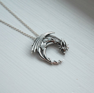 Handmade Dragon necklace charmed- Best Gift