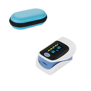 Light Blue Fingertip Pulse Oximeter