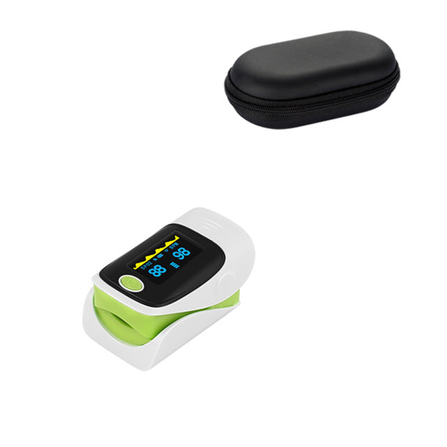 Green Fingertip Pulse Oximeter