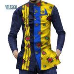 WAX 100% Cotton Mens African Fashion- Top