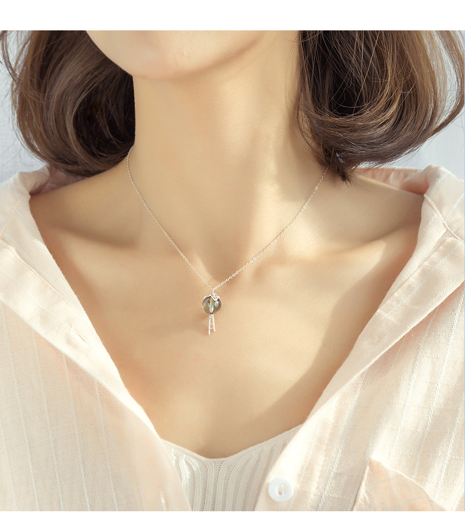 Elf Colorful S925 Silver Window Necklace