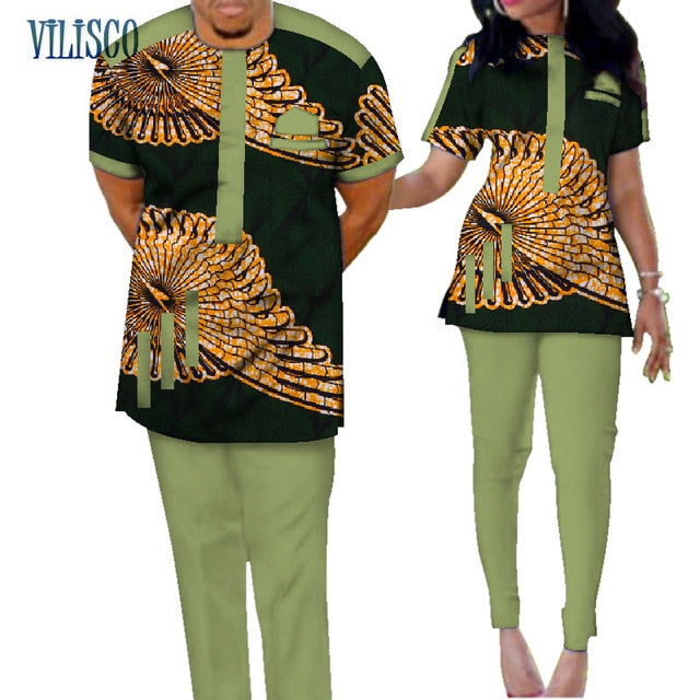 Traditional African Print Couple Sets