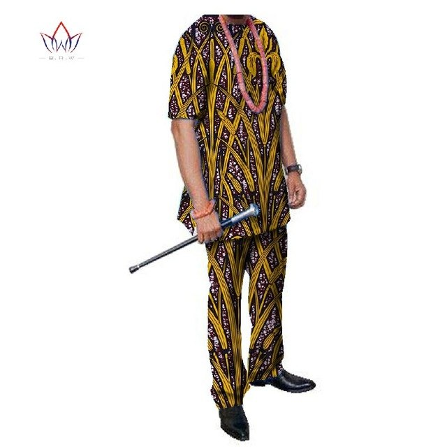 Summer African Mens Pant Set