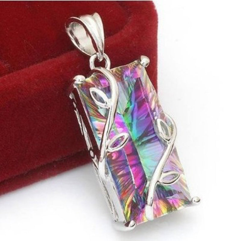 Hot sale Rainbow Crystal Glass Necklace