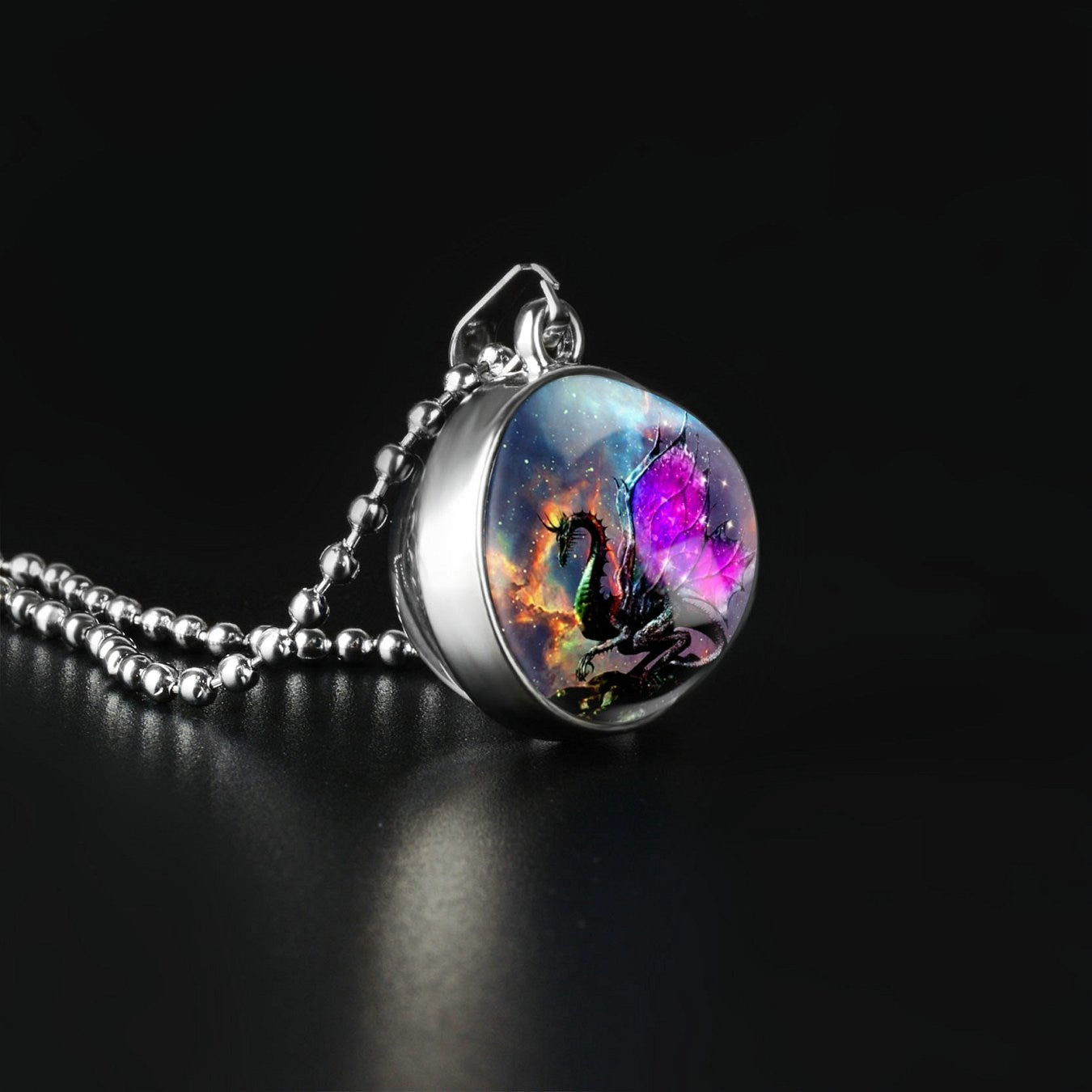 Classic dragon Sided Necklace - Gift