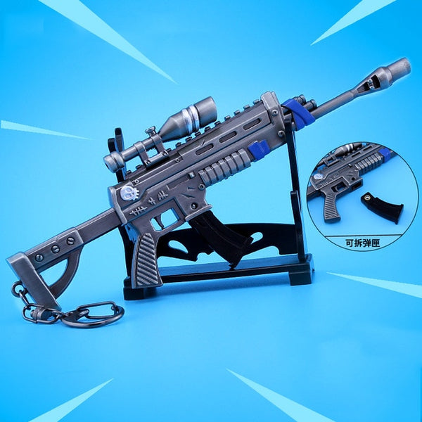 Fortnight Night Fortnite Rifle With Sight Armament Keychain Alloy