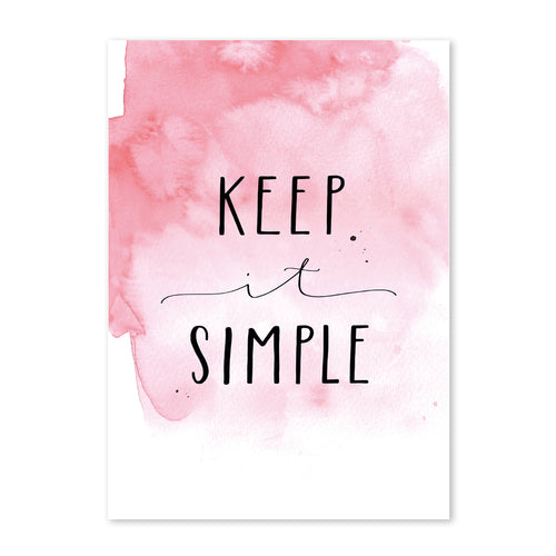 Postkarte Keep it simple