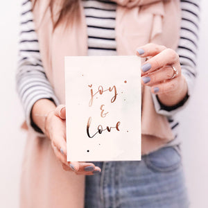 "POSTKARTE ""Joy & Love"""