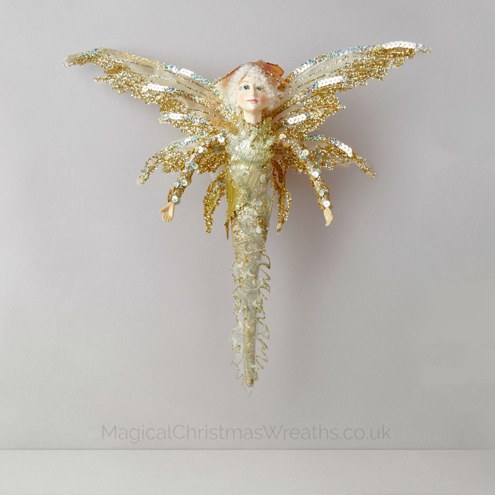 Stylish Christmas Butterfly Fairy Ornament