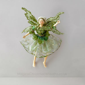 Beautiful Green Christmas Fairy Decoration