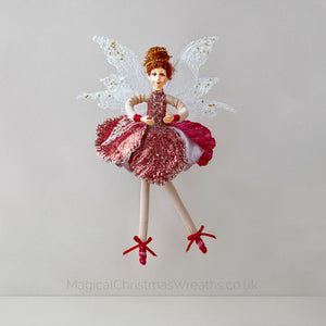 Pink Christmas Fairy Ballerina Decoration