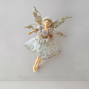 Beautiful Golden Fairy Christmas Tree Topper