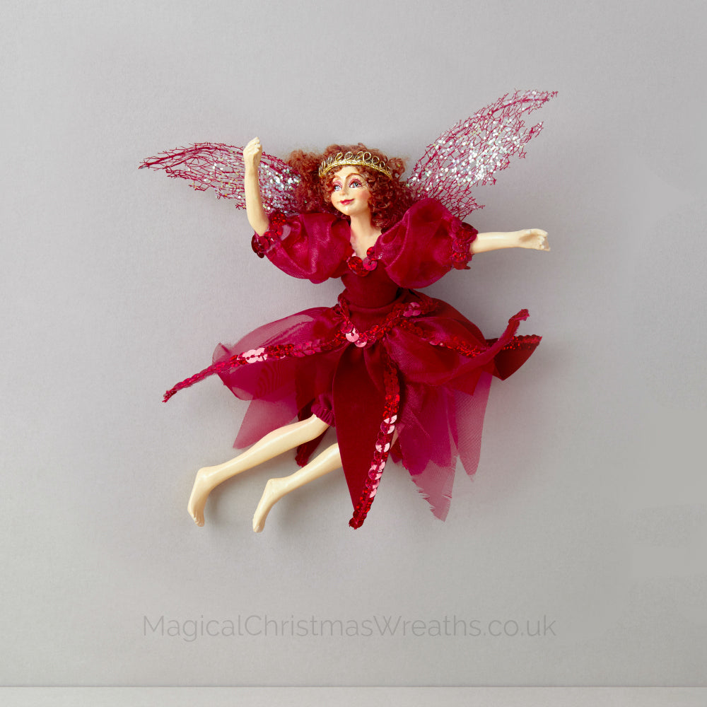 Luxury Red Christmas Fairy Doll