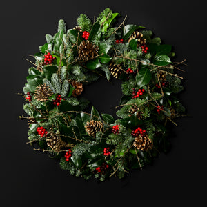 Balmoral Fresh Natural Christmas Door Wreath