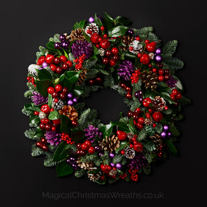 Fruits of the Forest Luxury Real Christmas Door Wreath