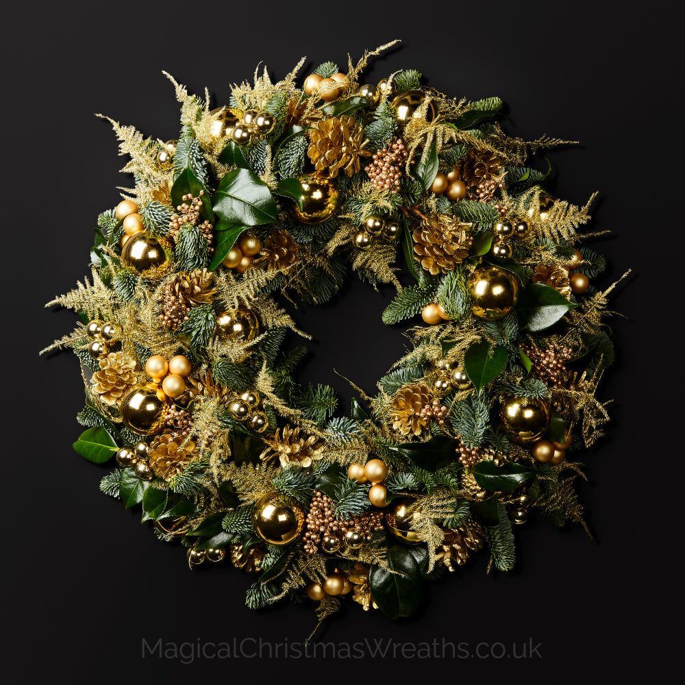 Gold Christmas Wreath.Midas Touch