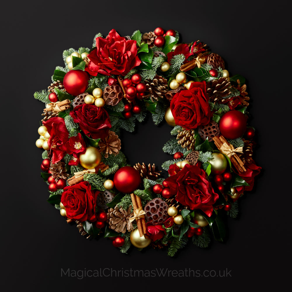 Fresh Christmas Wreaths.Golden Rouge