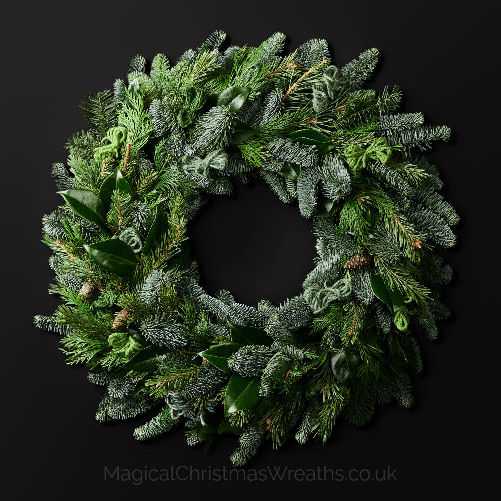 Fresh Christmas Wreaths.Green Velvet