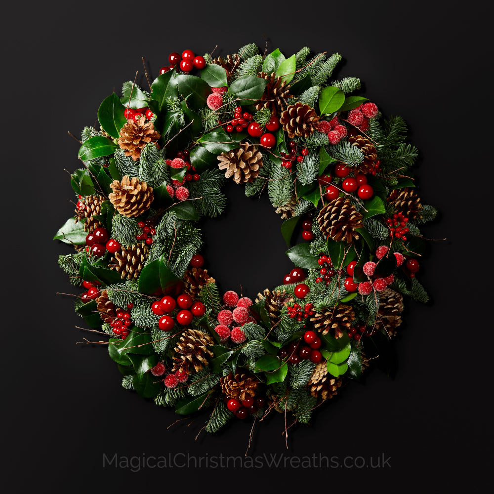 Happy Hedgerow Fresh Luxury Christmas Door Wreath