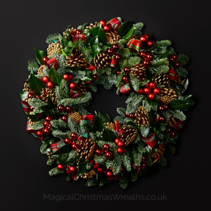 Luxury Highland Fling Fresh Christmas Door Wreath