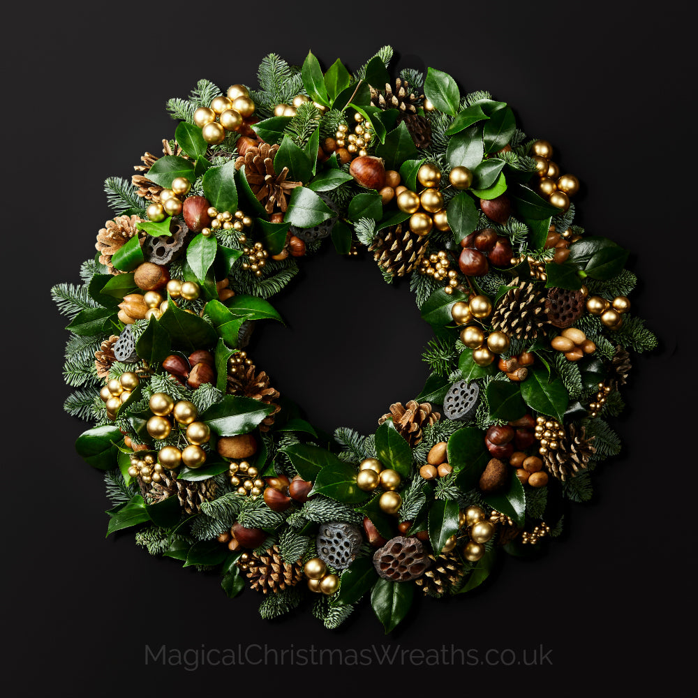 Fresh Christmas Wreaths.Fresh Luxury Christmas Wreaths Delivery Magical Christmas