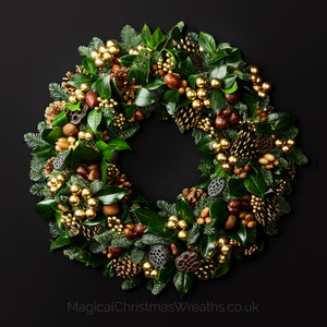 Luxury Marron Glace Fresh Christmas Door Wreath
