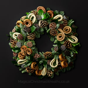 Rocky Mountain Pine Luxury Real Christmas Wreath