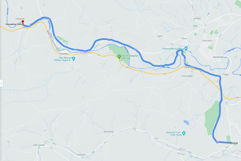The Route from Llangollen to Chirk