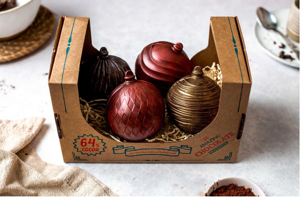 Large Luxury Chocolate Christmas Baubles