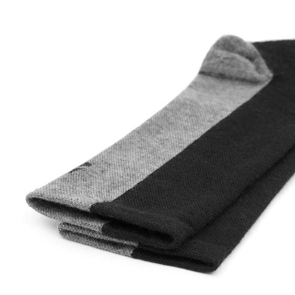 Merino Wool Deep Winter Socks in black and grey