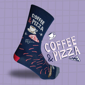 Coffee & Pizza Socks