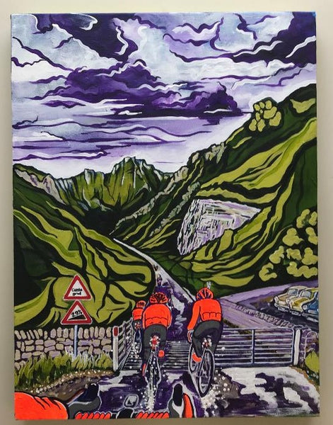 Rule of 6 up Winnats Pass (original acrylic painting)