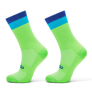 Simplicity Fluro Green Cycling Socks