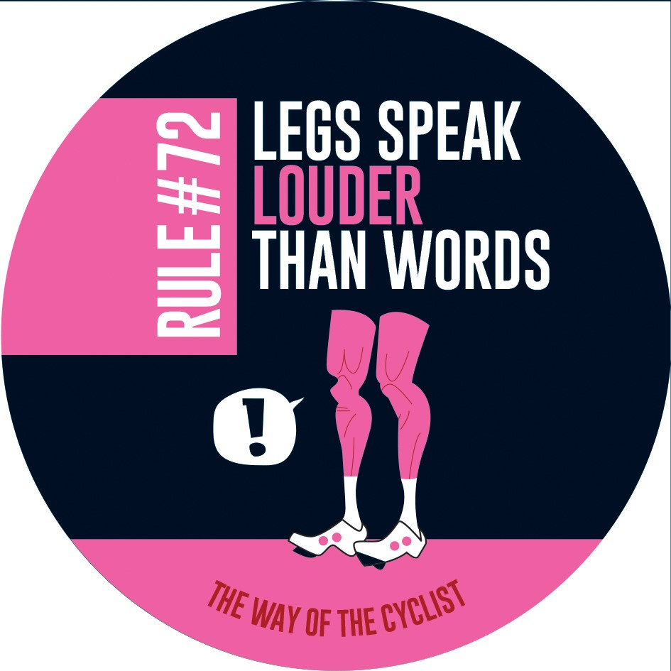 Cycling Rules Stickers pack of 4