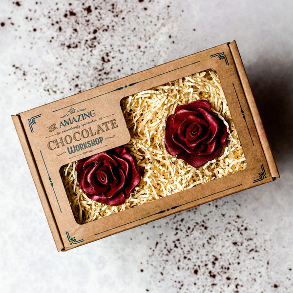Two Red Roses Gift Set