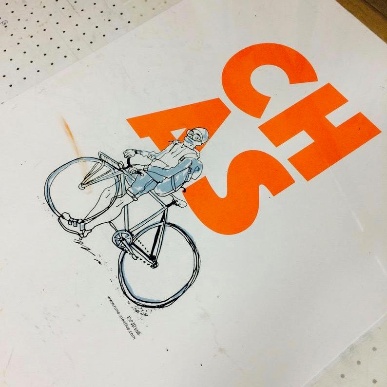 CHAS Fixie Rider A3 Print
