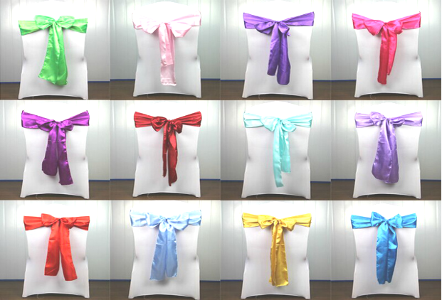 Satin Sashes Wholesale- For Decorating Your Wedding Venue with Vibrant Colors