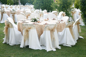 Make your wedding more memorable with these Chair Covers, Table Fabrics & Linens