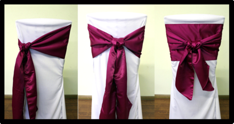 Knot Style Organza Sashes