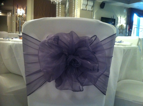 Rosette Style Organza Sashes